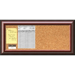'Cambridge Mahogany Cork Board - Panel' Message Board 34 x 16-inch - 35 x 17-inch