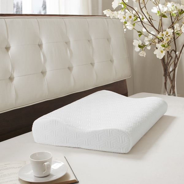 Flexapedic by Sleep Philosophy Gel Memory Foam Contour Pillow