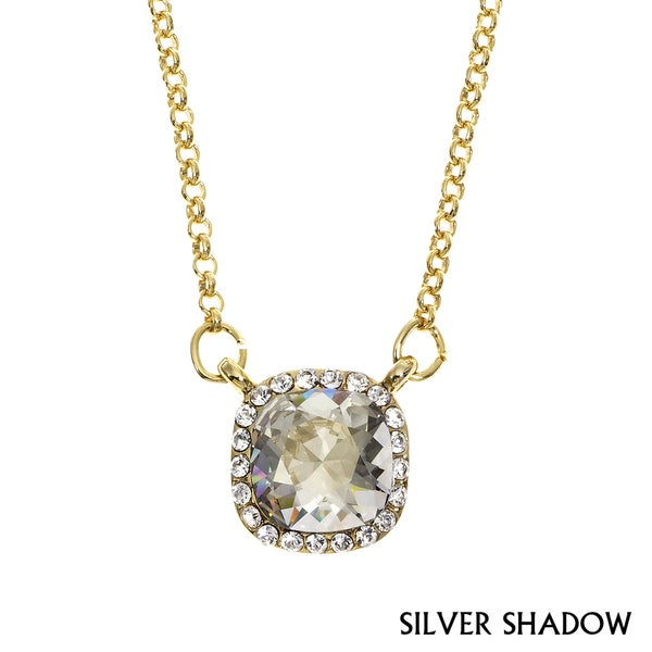 Isla Simone - Gold Plated Necklace with Swarovski & White Crystal