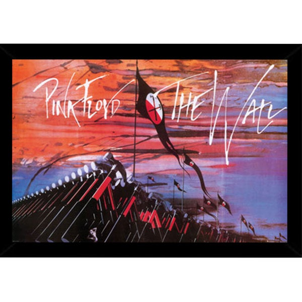 Pink Floyd Print (36-inch x 24-inch) with Contemporary Poster Frame