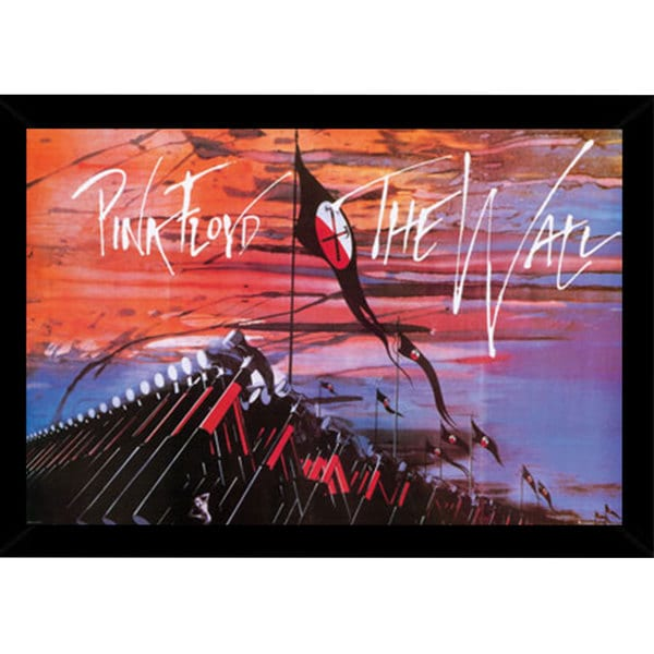 Pink Floyd Print (24-inch x 36-inch) with Traditional Black Wood Frame