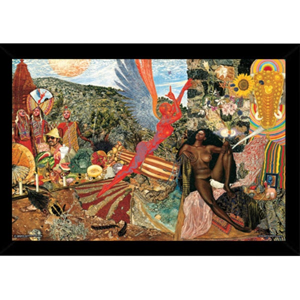 Annunciation Santana Abraxas Cover Print (36-inch x 24-inch) with Contemporary Poster Frame