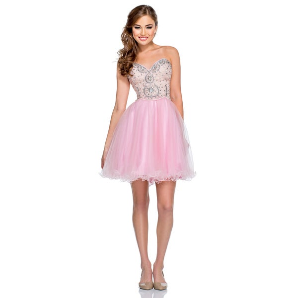 Beaded Sweetheart Short Ball Gown