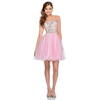 Terani Couture Beaded Sweetheart Short Ball Gown