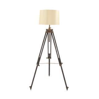"Brass Tripod Floor Lamp 75""H"