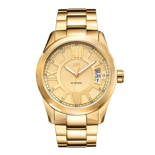 JBW Men's 18k Goldplated Diamond J6311A Bond Watch