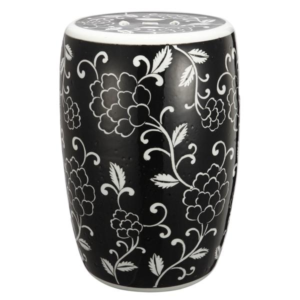 Black Ceramic Garden Stool 18301839 Overstock Com