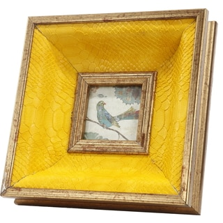 Lauren Taupe/ Yellow Photo Frame