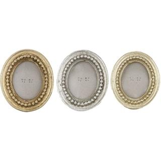 Oval Photo Frames (Set of 3)