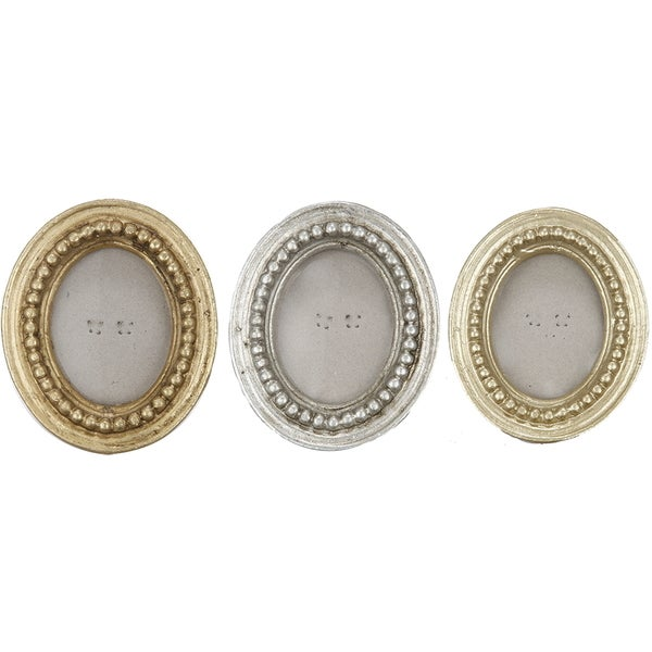 Oval Photo Frames (Set of 3)