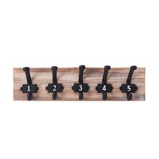 Melannco Numbered Wood Coat Hook