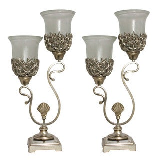 Casa Cortes Newport Collection 2-tiered Lights Torchiere Table Lamp (Set of 2)