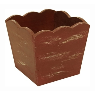 Distressed Red Pot Cover (Set of 4)