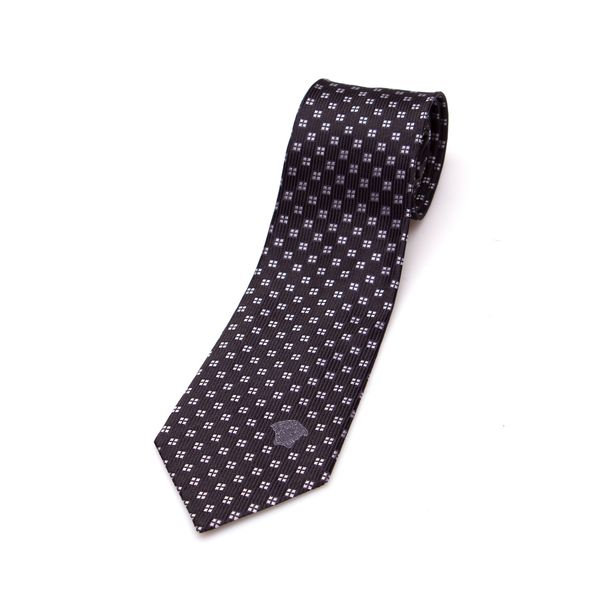 Versace Collection Men's Black Square Silk Slim Tie