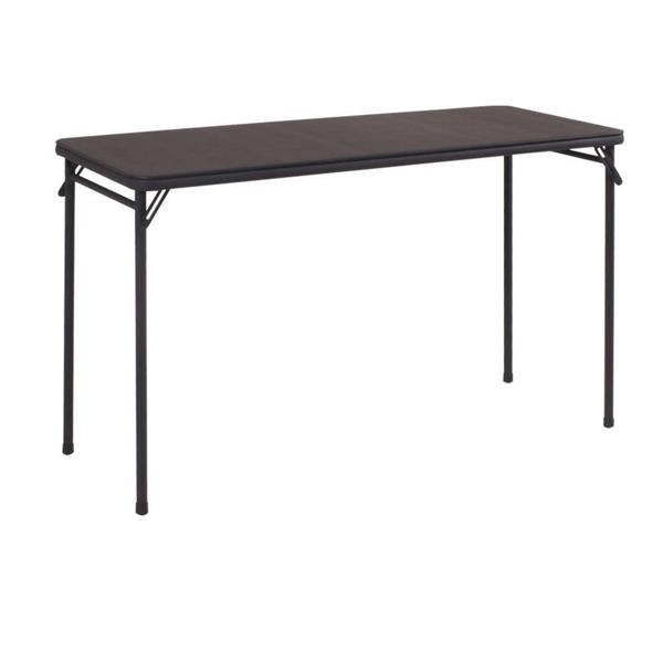 4-foot Rectangular Cushion Top Folding Table