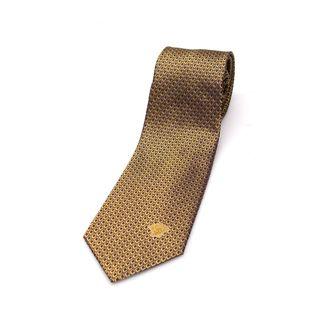 Versace Collection Men's Gold Silk Slim Tie
