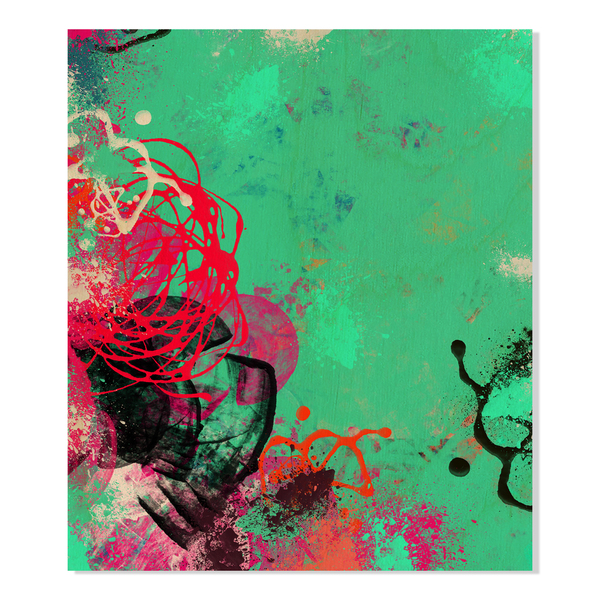 Gallery Direct Abstract Paint Strokes Print on Birchwood Wall Art