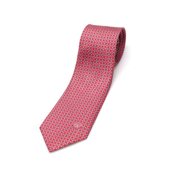 Versace Collection Men's Red Link Silk Slim Tie
