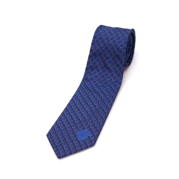 Versace Collection Men's Blue Circle Silk Slim Tie