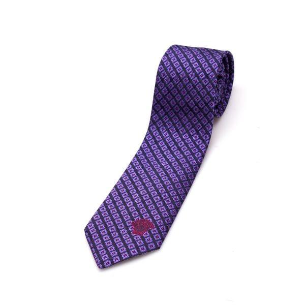 Versace Collection Men's Purple Pattern Silk Slim Tie