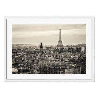 Gallery Direct View of Paris and of the Eiffel Tower Print by Francesco Rizzato on Paper Frame Wall Art