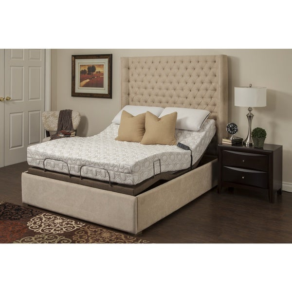 Blissful Nights Blossom 9-inch Twin XL-size Memory Foam Mattress with Adjustable Base