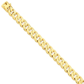 14k Yellow Gold 11mm Hand-polished Traditional Link Chain