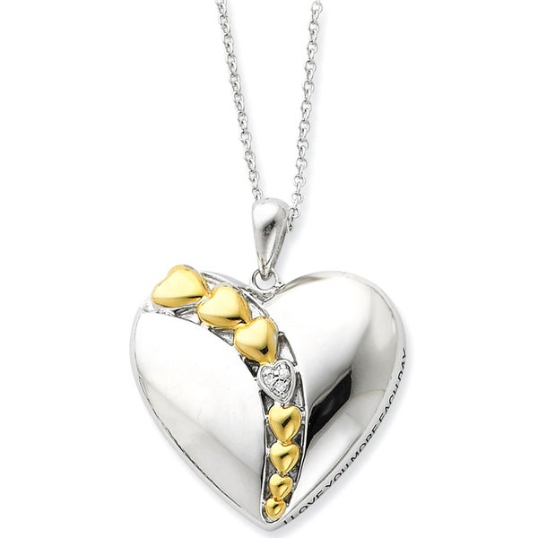 Versil Goldplated Silver I Love You More Each Day Necklace