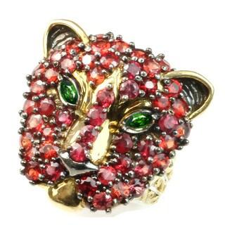 Michael Valitutti Orange Sapphire Panther ring