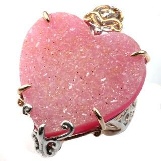 Michael Valitutti Red Druzy Heart Ring