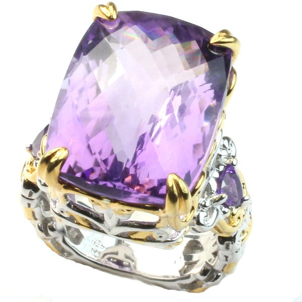 Michael Valitutti cush check top brazilian Amethyst Ring