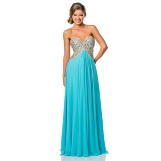 Terani Couture Women's Sweetheart Top Prom Gown