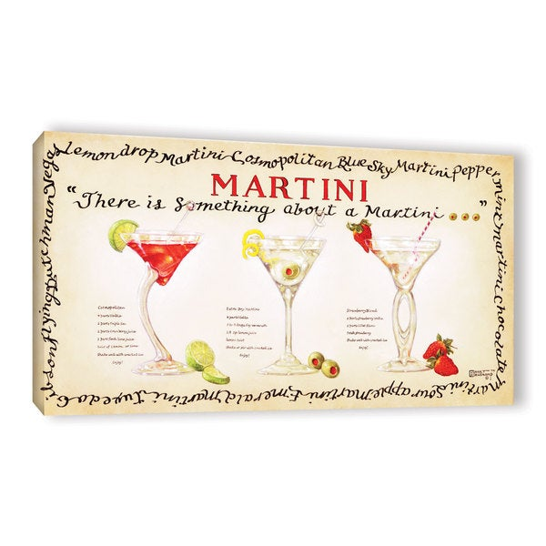 ArtWall Janet Kruskamp's There Is Something About A Martini, Gallery Wrapped Canvas