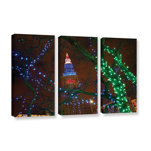 ArtWall Cody York's Terminal Tower, 3 Piece Gallery Wrapped Canvas Set