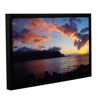 ArtWall Kathy Yates's Last Light Over Bali Hai, Gallery Wrapped Floater-framed Canvas