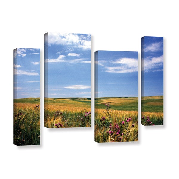 ArtWall Kathy Yates's Field of Dreams, 4 Piece Gallery Wrapped Canvas Staggered Set