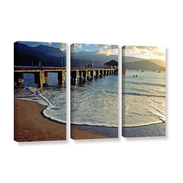 ArtWall Kathy Yates's A Land Called Hanalei, 3 Piece Gallery Wrapped Canvas Set