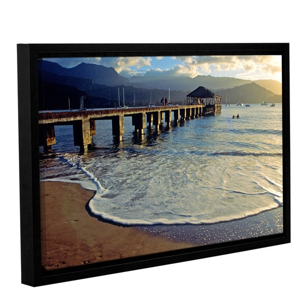 ArtWall Kathy Yates's A Land Called Hanalei, Gallery Wrapped Floater-framed Canvas