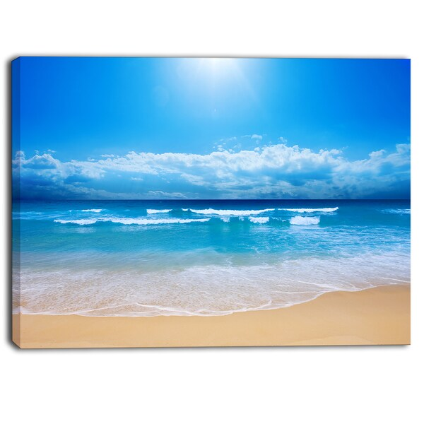 Designart - Paradise Beach Seascape Photography Canvas Print