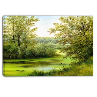 Designart - Green Summer Landscape Canvas Wall Art Print