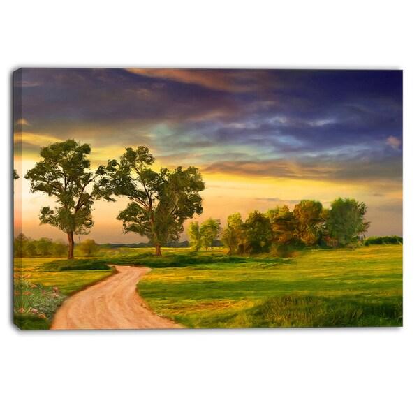 Designart - Road to Bliss - Landscape Canvas Art Print