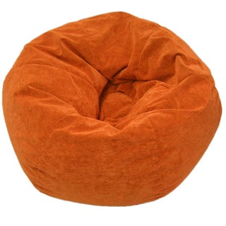 Gold Medal Sueded Corduroy Jumbo Orange Bean Bag Chair
