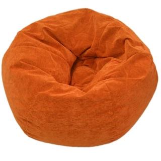 Gold Medal Sueded Corduroy Jumbo Orange Bean Bag Chair