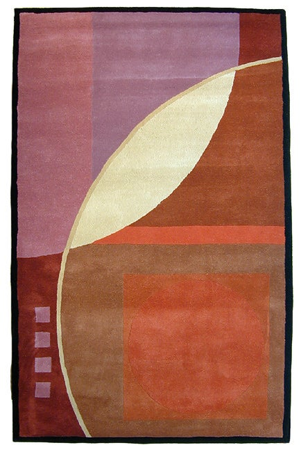 Hand-tufted Eclipse Wool Rug (5' x 8')