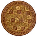 Hand-tufted Baktarri Red/ Beige Wool Rug (8' Round)
