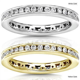 Annello 14k Gold 1/2ct TDW Round Diamond Eternity Band (G-H, I1-I2)