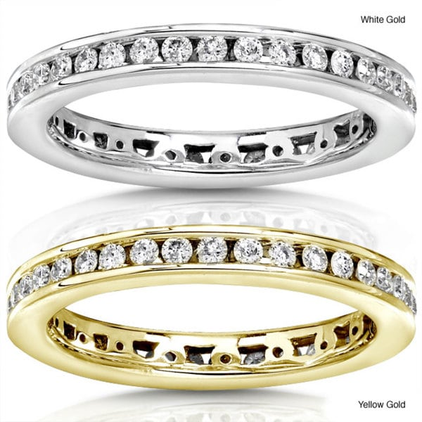 Annello 14k White or Yellow Gold 1/2ct TDW Round Diamond Wedding Band (G-H, I1-I2)