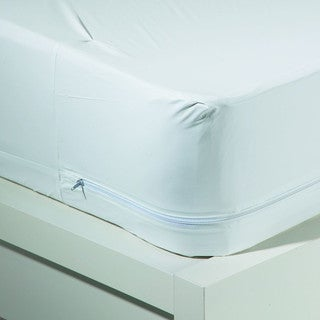 4-in-1 Zippered Vinyl Mattress Encasement With Bed Bug Blocker
