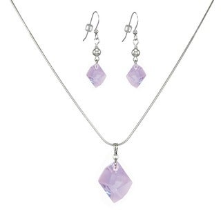Jewelry by Dawn Violet Swarovski Crystal Sterling Silver Necklace and Earring Set