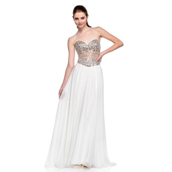 Terani Couture Women's Sweetheart Top Prom Dress